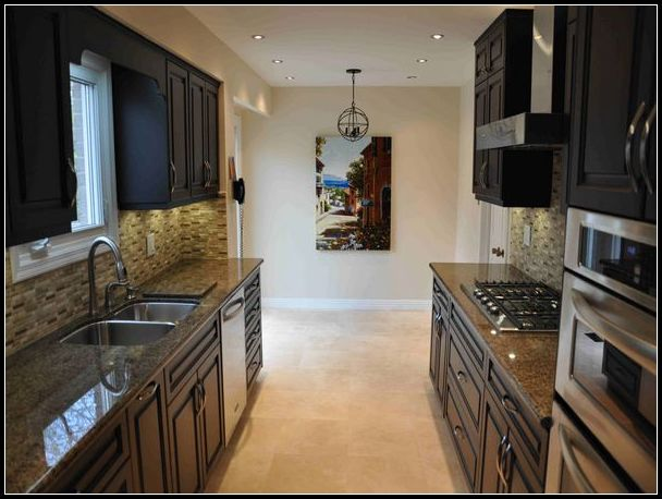 Stained Solid Wood Doors Kitchen