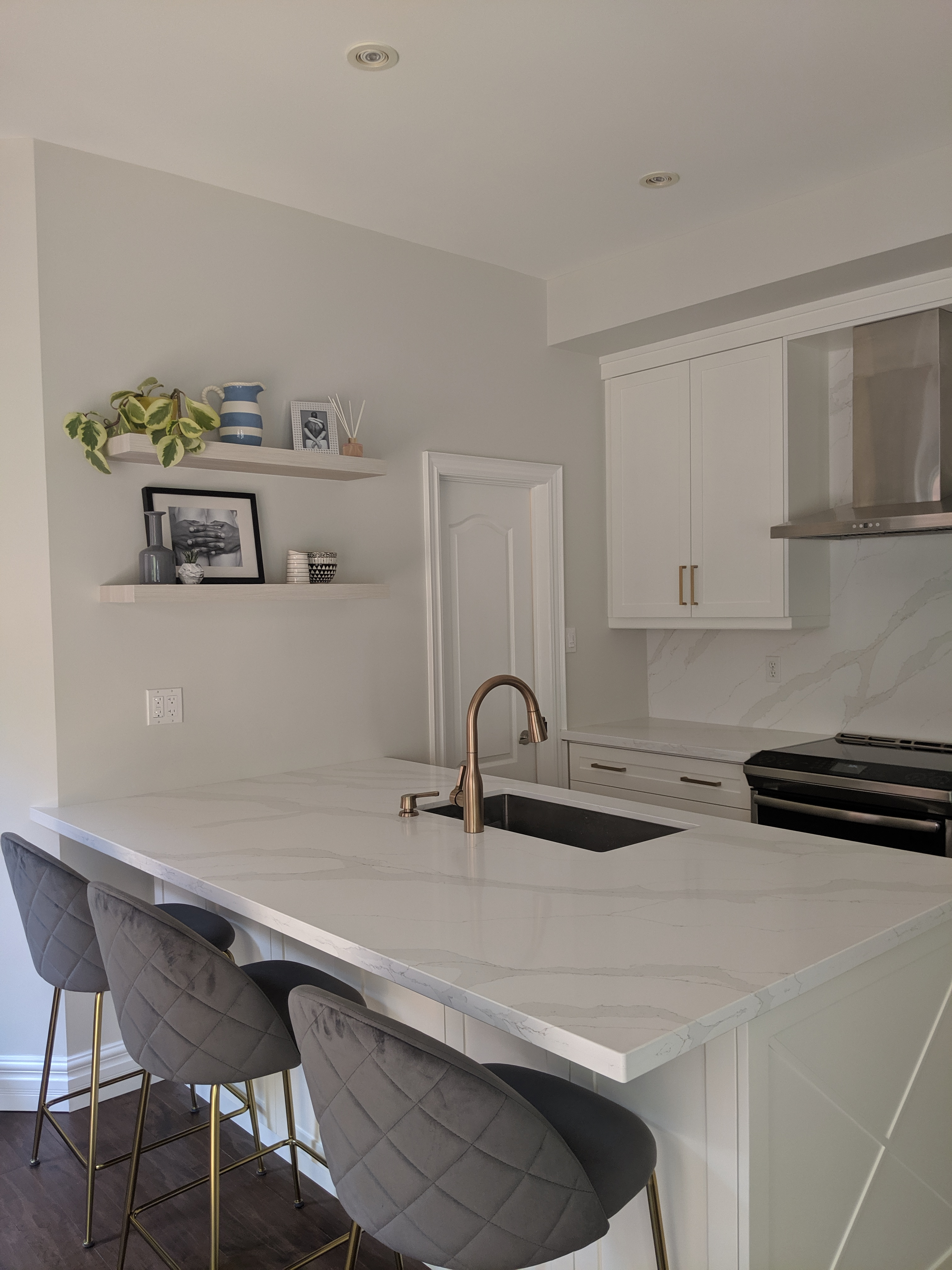 White Painted MDF doors kitchen