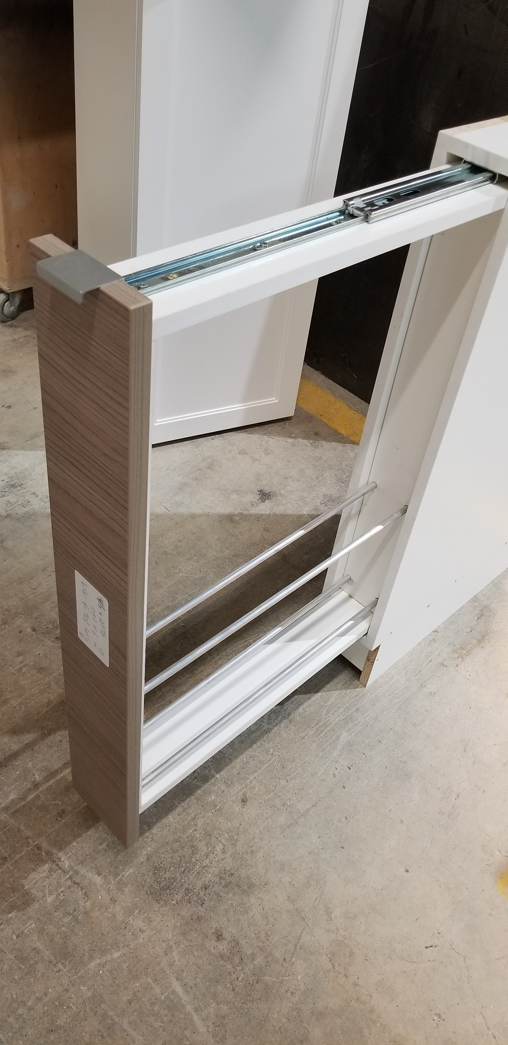 Cutting board pull out rack